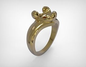 Jewelry Gold Ring Triangle Shaped Top 3D printable model