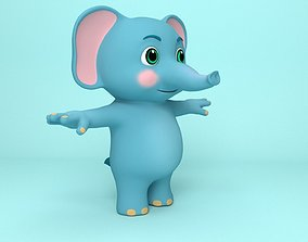 Elephant Cartoon 3D