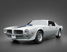 1972 Pontiac Firebird TransAm 3D model