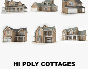 3D Hi-poly cottages vol 7