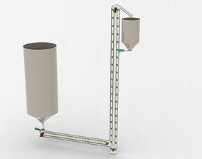 Industrial conveyor system 3D
