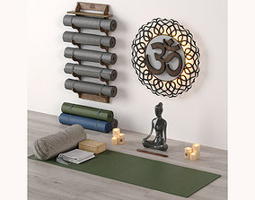 ethnic Excellent yoga set 3D