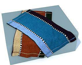 3D model Multicolor Towels