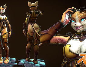 3D model Furry Steampunk Cat NSFW