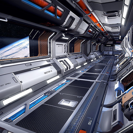 Sci Fi Sector 2 Environment