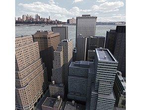 3D asset Lower Manhattan District