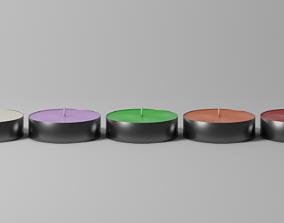 Tealight set 3D model