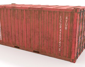 3D model Container 20 ft low poly