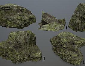 3D asset Rock Set 10