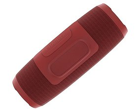 JBL CHARGE3 WIRELESS PORTABLE SPEAKER RED 3D model
