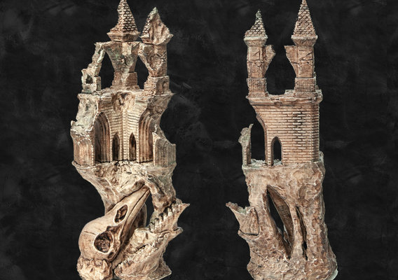 Ancient Raven Castle - 3D Printable model         You can buy this model from my page.