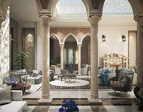 luxury arabian living room 3D model