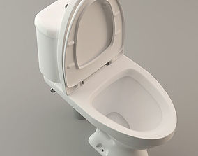 3D Toilet Lavatory Loo - High Poly Model