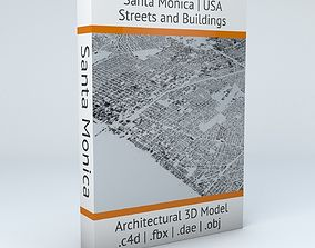 Santa Monica Streets and Buildings 3D