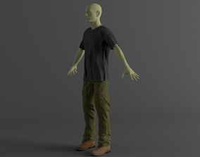 Men Clothing Set 8 3D asset