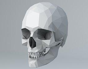 3D model Lowpoly Human Skull