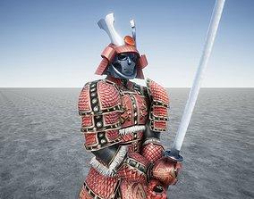 Samurai Ancient Great Warrior 3D model animated