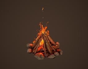 3D asset animated Campfire