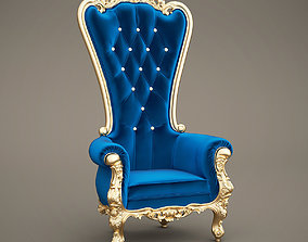 Fabulous and Baroque Elvira Absolom Roche Chair Caspani 3D