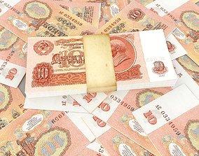 3D model USSR rubles
