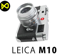 3D model Leica M10 Silver Flagship Camera 2017