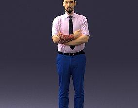Guy in purple shirt 0470 3D Print Ready