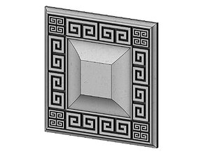 3D print model Greek key ceiling medallion and tile