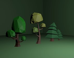 trees 3D asset Low-poly Trees