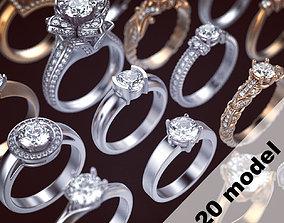 stone 3D printable model Pack Ring 3