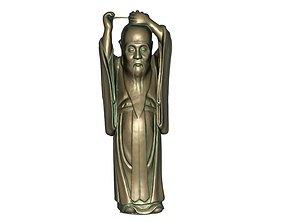 Confucius 3D asset