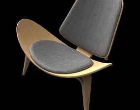Wegner CH07 Shell Chair scandinavian 3D model