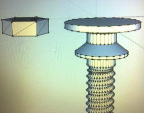 door-handle 3D print model drawer knob FB