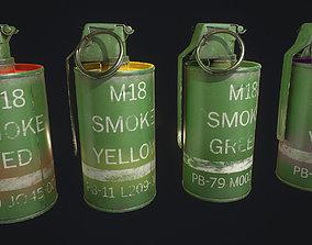3D model realtime M18 Smoke Grenade