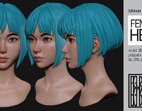 3D model Female Anime Head 2