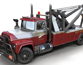 3D model Vintage industrial wrecker truck