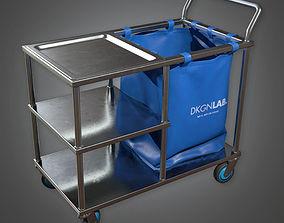 3D asset Medical Supply Cart 03 HPL - PBR Game Ready