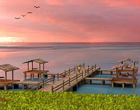 Dock Raft 3D model