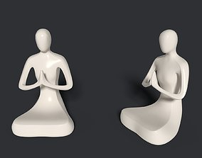 Meditation Figurine - Abstract Buddha 3D model