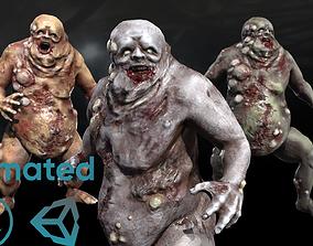 3D asset animated Fat mutant