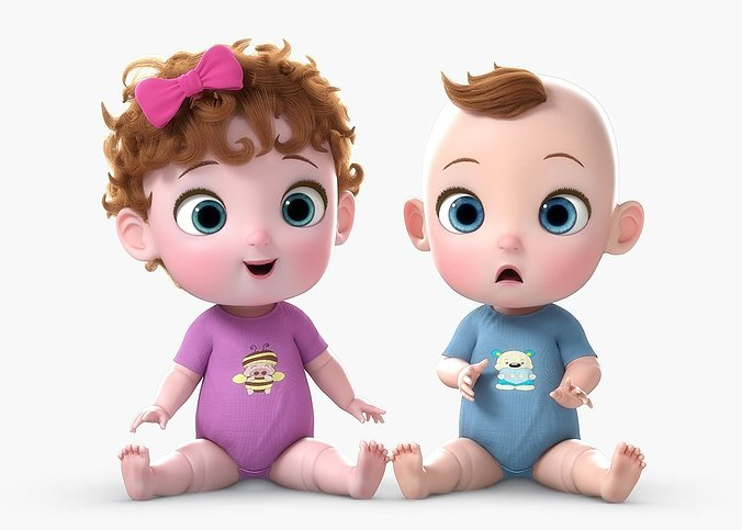 cartoon-baby-twin-rigged-3d-model-rigged