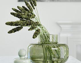 3D model Modern grass arrangement in a vase