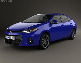 3D model Toyota Corolla S US 2013