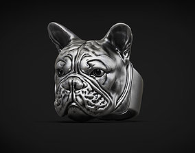 jewellery French Bulldog Ring 3d model for 3d printing