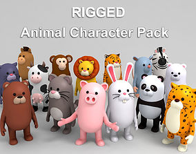 character Rigged Animal Character Pack 3D model