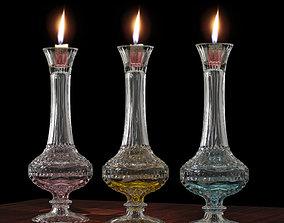3D printable model Candel hoder Crystal glass antique