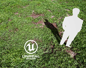 animated Realistic Grass 08 - UE4 Asset and FBX Files