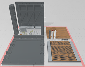 -MHB02C- Mecha Hangar Bay 02 3D printable model 1