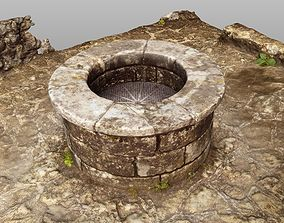 3D Stone castle well