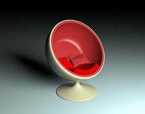 3D model Eero sphere chair