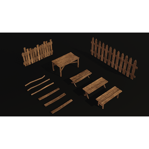 wooden props